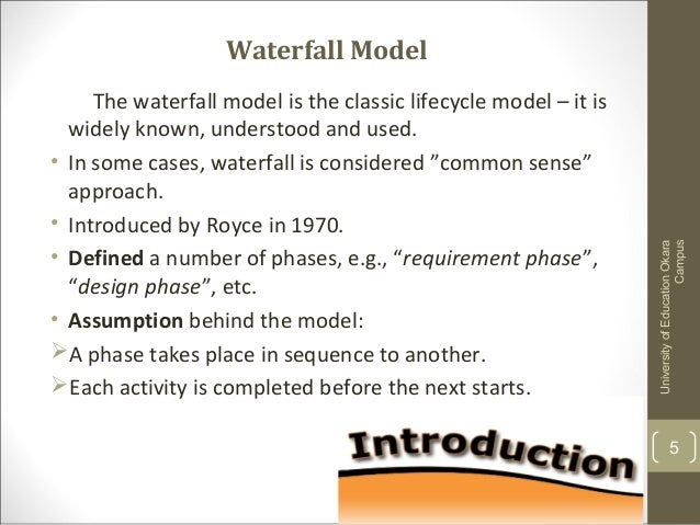 application of waterfall model in software engineering