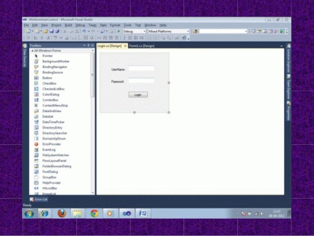 c# windows form application projects