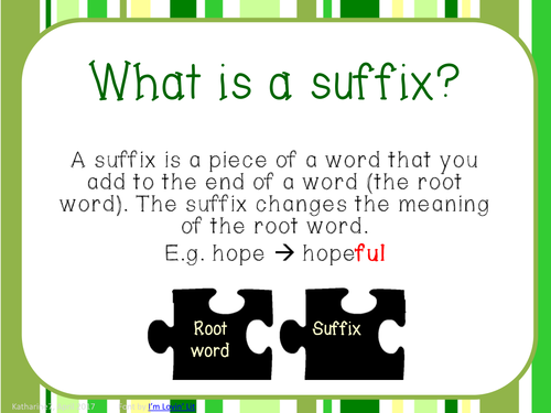what is a suffix in a job application
