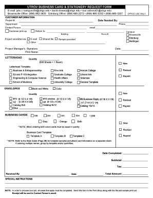 requesting an application form by email