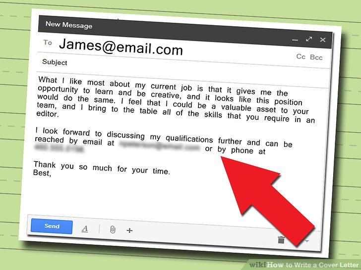 how write an email for job application