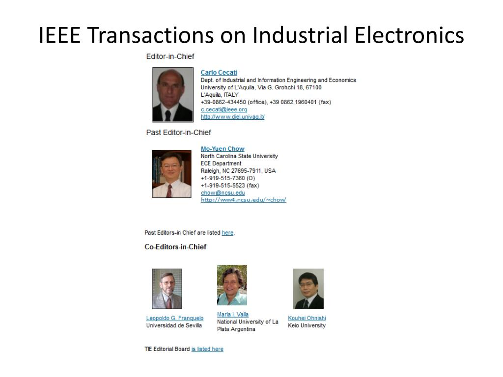 ieee transaction on industrial application