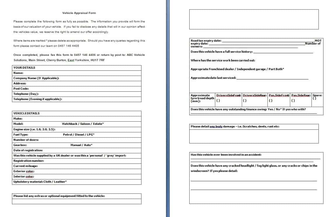 free application form template word