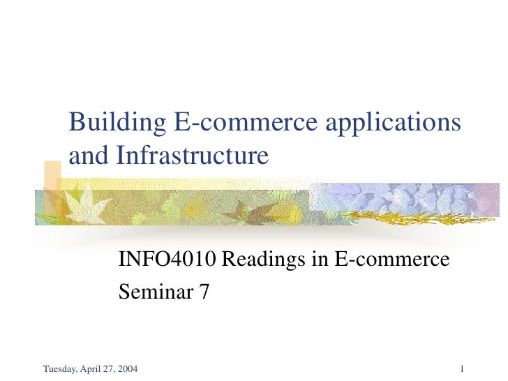 what is e commerce application