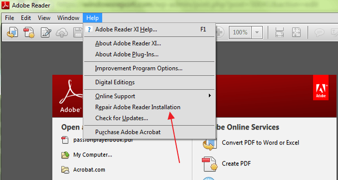 adobe acrobat was unable to become your default pdf application