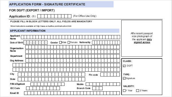 application for certificate of practice