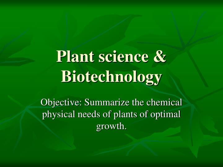 application of biotechnology in agriculture ppt