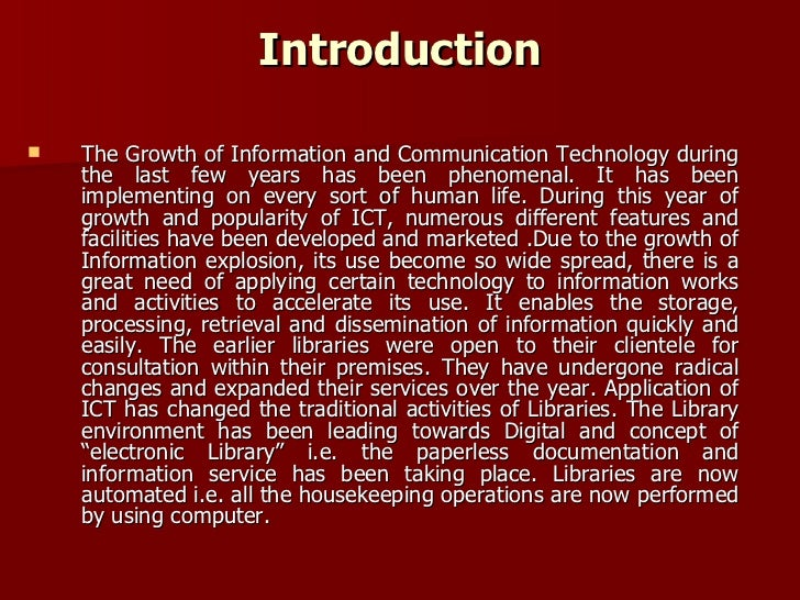 application of ict in communication
