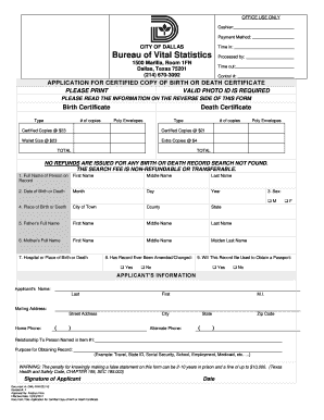 birth certificate application form download