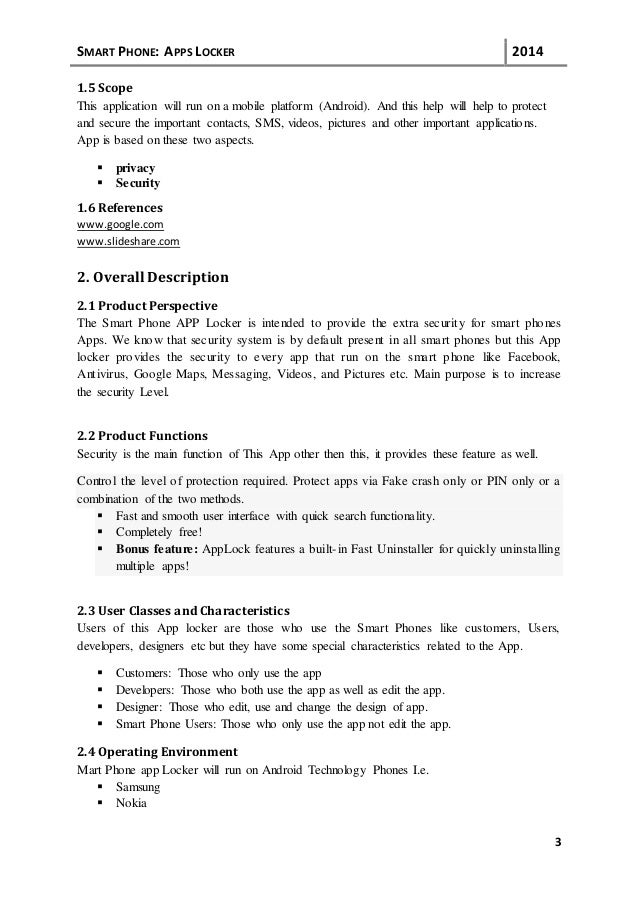 srs document for web application