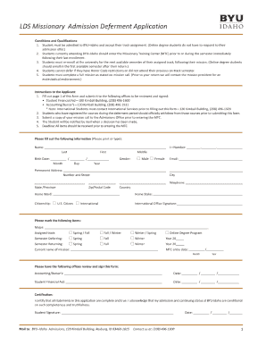 lds missionary application medical forms