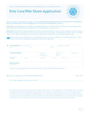 department of human services application for assistance