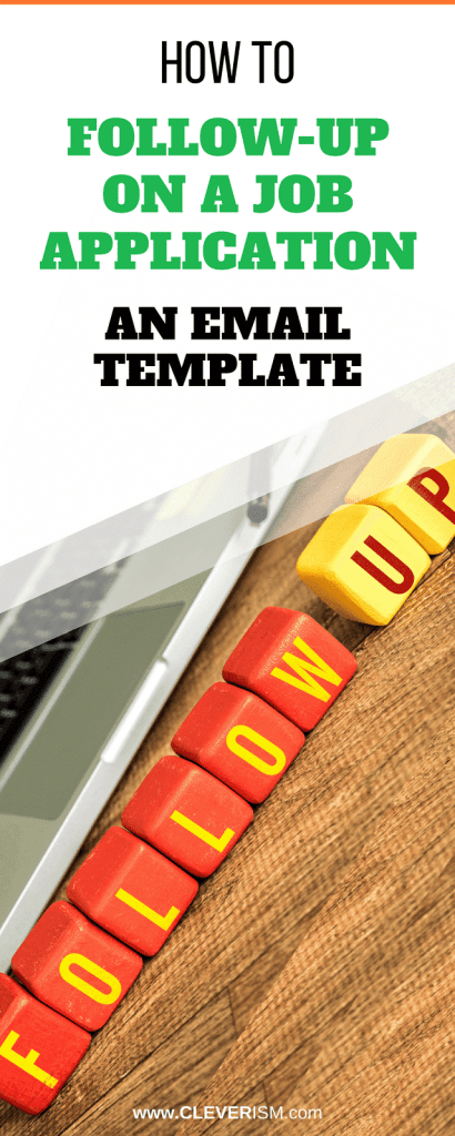 how to follow up on a job application email